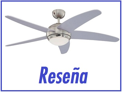 Westinghouse Lighting Bendan Ventilador de Techo R7s aspas plateadas