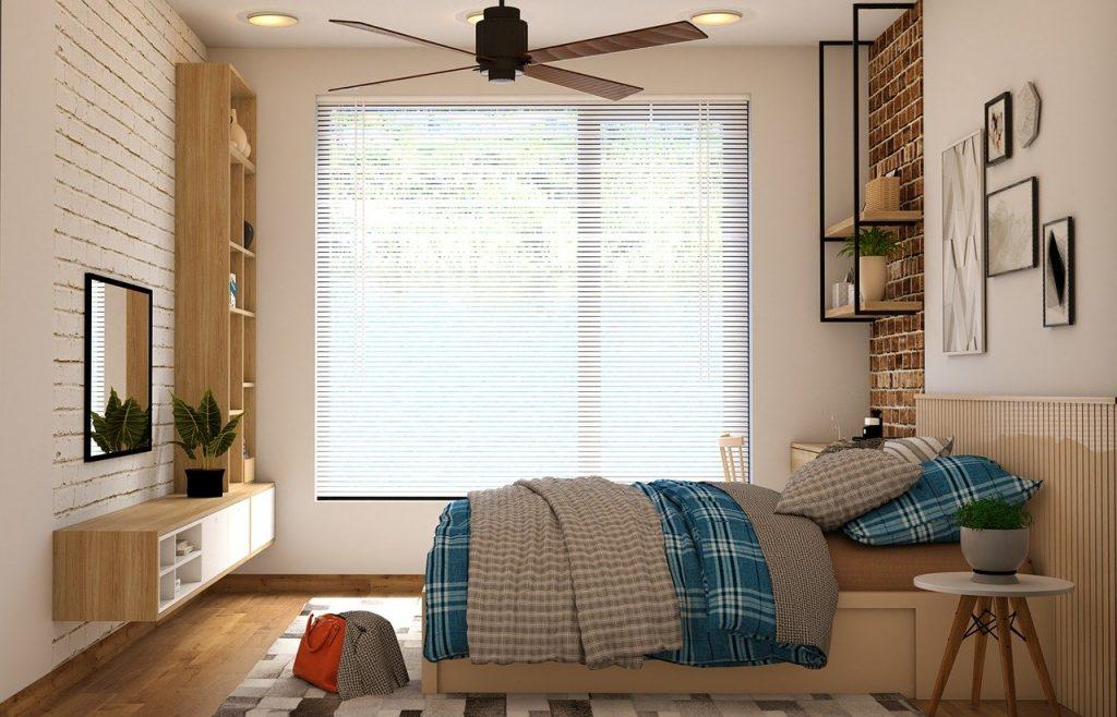 HABITACIÓN ventilador en el techo con luz