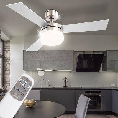 ventilador de techo globo alana en habitación D 105cm