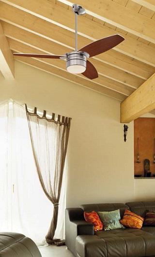 ventilador para techo inclinado