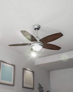 Ventilador de techo con luz de bajo consumo cecotec