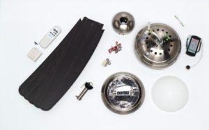piezas para el montaje de un ventilador de techo